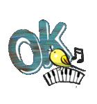 小鳥と音楽・ピアノの先生(個別スタンプ:13)