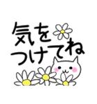 らくらくスタンプ (字が大きい)花*ねこ(個別スタンプ:18)