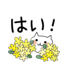 らくらくスタンプ (字が大きい)花*ねこ(個別スタンプ:29)