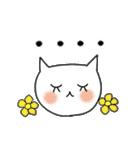 らくらくスタンプ (字が大きい)花*ねこ(個別スタンプ:35)