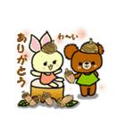 くまたんde秋~ハロウィンのスタンプ(個別スタンプ:03)