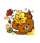 くまたんde秋~ハロウィンのスタンプ(個別スタンプ:28)