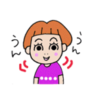 九州弁・博多弁のパッツン前髪キリちゃん(個別スタンプ:36)