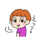 九州弁・博多弁のパッツン前髪キリちゃん(個別スタンプ:37)
