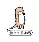 絵文字好きなカワウソ(個別スタンプ:01)