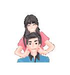 ロマンチックなカップル(個別スタンプ:01)