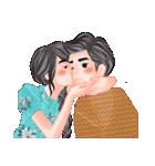 ロマンチックなカップル(個別スタンプ:04)
