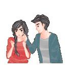 ロマンチックなカップル(個別スタンプ:21)