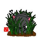 国産黒毛和猫 黒丸(個別スタンプ:03)
