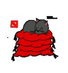 国産黒毛和猫 黒丸(個別スタンプ:06)