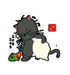 国産黒毛和猫 黒丸(個別スタンプ:14)