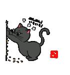 国産黒毛和猫 黒丸(個別スタンプ:17)