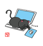 国産黒毛和猫 黒丸(個別スタンプ:26)