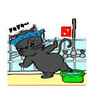 国産黒毛和猫 黒丸(個別スタンプ:30)