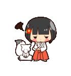 巫女さんコンさん(個別スタンプ:05)