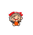 オレンジちゃんとブラウンくん【女の子用】(個別スタンプ:01)