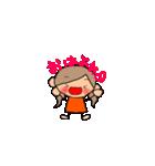 オレンジちゃんとブラウンくん【女の子用】(個別スタンプ:02)