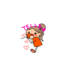 オレンジちゃんとブラウンくん【女の子用】(個別スタンプ:03)