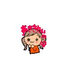 オレンジちゃんとブラウンくん【女の子用】(個別スタンプ:04)
