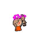 オレンジちゃんとブラウンくん【女の子用】(個別スタンプ:05)