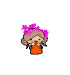 オレンジちゃんとブラウンくん【女の子用】(個別スタンプ:06)