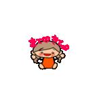 オレンジちゃんとブラウンくん【女の子用】(個別スタンプ:08)