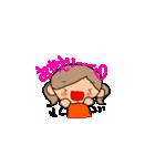オレンジちゃんとブラウンくん【女の子用】(個別スタンプ:09)