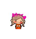 オレンジちゃんとブラウンくん【女の子用】(個別スタンプ:10)