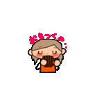オレンジちゃんとブラウンくん【女の子用】(個別スタンプ:11)