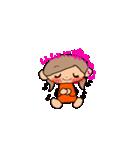 オレンジちゃんとブラウンくん【女の子用】(個別スタンプ:15)