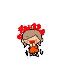 オレンジちゃんとブラウンくん【女の子用】(個別スタンプ:18)