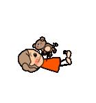 オレンジちゃんとブラウンくん【女の子用】(個別スタンプ:20)