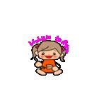 オレンジちゃんとブラウンくん【女の子用】(個別スタンプ:29)