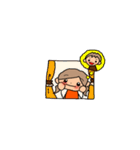 オレンジちゃんとブラウンくん【女の子用】(個別スタンプ:30)