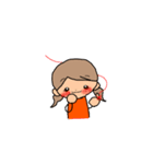 オレンジちゃんとブラウンくん【女の子用】(個別スタンプ:34)