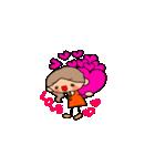 オレンジちゃんとブラウンくん【女の子用】(個別スタンプ:36)