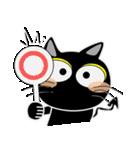 黒猫ハッピー2(個別スタンプ:03)