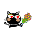 黒猫ハッピー2(個別スタンプ:10)