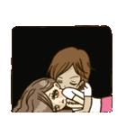 ラブラブカップル女の子3(個別スタンプ:16)