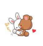 毎日いっしょ☆うさくまのラブスタンプ3(個別スタンプ:6)