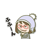 がんばれ眼鏡女子2(個別スタンプ:17)