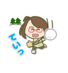 がんばれ眼鏡女子2(個別スタンプ:35)