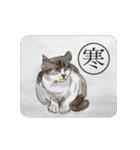 猫のカルタ風(個別スタンプ:17)