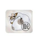 猫のカルタ風(個別スタンプ:40)