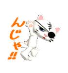 3D 目が怖いネコ「ドラ猫モータース」(個別スタンプ:27)