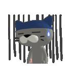 3D 目が怖いネコ「ドラ猫モータース」(個別スタンプ:28)