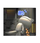 3D 目が怖いネコ「ドラ猫モータース」(個別スタンプ:33)