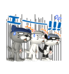 3D 目が怖いネコ「ドラ猫モータース」(個別スタンプ:34)