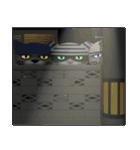 3D 目が怖いネコ「ドラ猫モータース」(個別スタンプ:36)