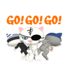 3D 目が怖いネコ「ドラ猫モータース」(個別スタンプ:38)